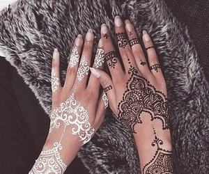 henna, white, and black image