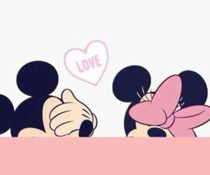 mickey, pink, and love image