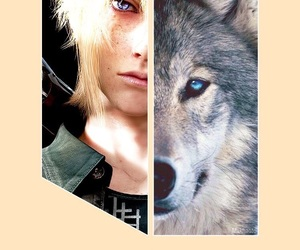 wolf, prompto, and ffxv image