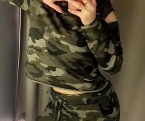 camo, camouflage, and fashion image