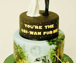 cake, han solo, and obi wan image