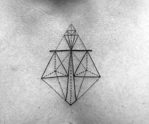 alternative, Libra, and geometric tattoo image