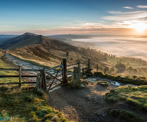derbyshire, hill, and mist image