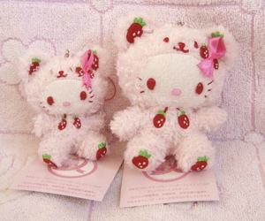 hello kitty, pink, and toys image