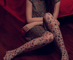 girl, dress, and tights image