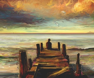 art, sea, and alone image