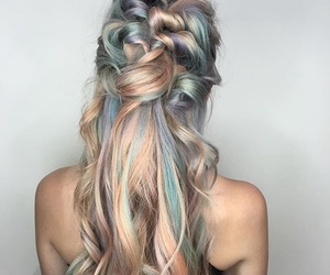 colores, hair, and dorado image