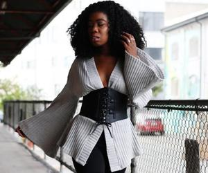 black, style, and corset image