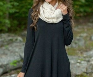 dress, fall, and outfit image