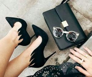 shoes, handbag, and style image