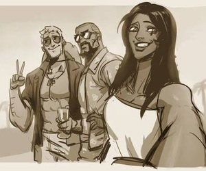anna, reaper, and gabriel reyes image