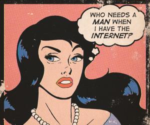 internet, comic, and man image