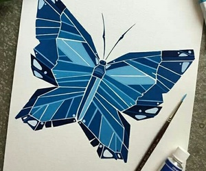 blue, wings, and butterfly image