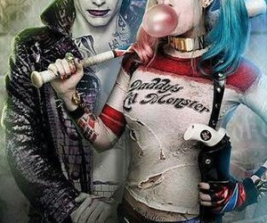harley quinn, joker, and suiced squad image