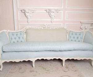 blue, couch, and furniture image