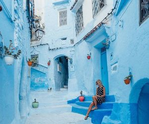 travel, blue, and photography image