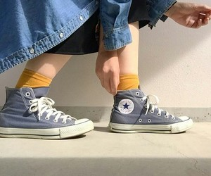 chuck taylor, converse, and denim image