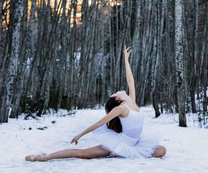 ballet, dance, and snow image
