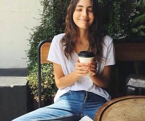 girl, coffee, and smile image
