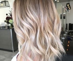 blonde, curls, and short hair image