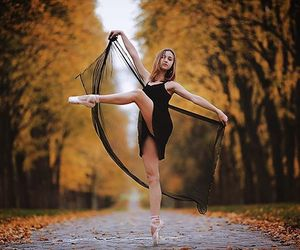 autumn, ballet, and fall image