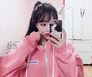 ulzzang, pink, and asian image