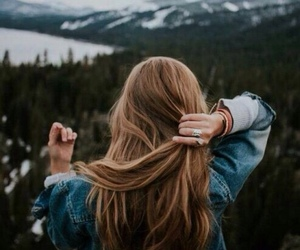 travel, hair, and mountains image