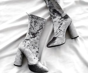 fashion, grey, and highheels image