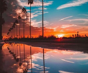 sunset, sky, and travel image