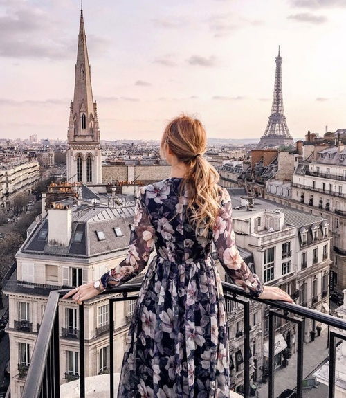 girl, paris, and travel image