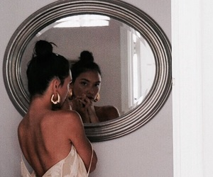 girl, mirror, and model image