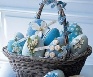 eggs, easter, and blue image
