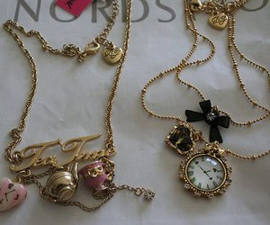 necklace and clock image