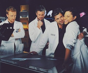 grey's anatomy, mark sloan, and owen hunt image