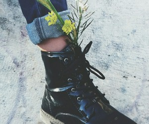 aesthetics, boots, and flowers image