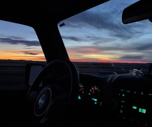 blue, car, and sunset image