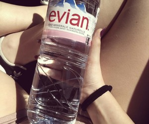 water, evian, and pink vibes image