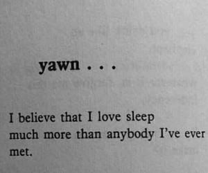 sleep, quotes, and yawn image