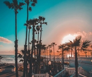 summer, sunset, and beach image