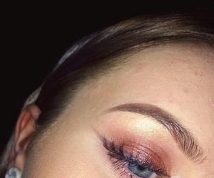 eyelashes, eyeshaddow, and mac image
