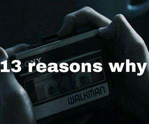 sad, 13 reasons why, and serie image