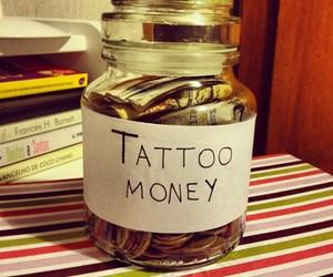 jar, money, and tatoo image