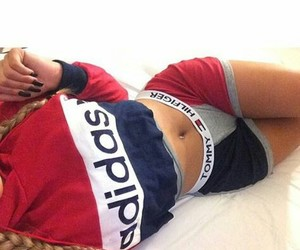 adidas, body, and tommy hilfiger image