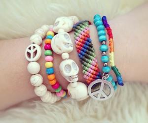 bracelet, skull, and cool image
