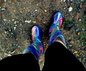 boots, color, and crazy image
