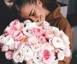 blonde, pink, and roses image