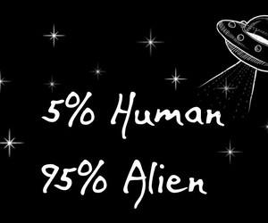 aliens, black, and space image