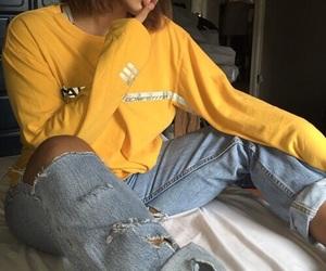girl, yellow, and tumblr image