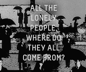 lonely, black and white, and the beatles image
