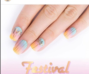 colors, gold, and nails image